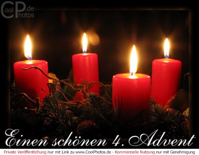CoolPhotos.de - Grußkarten - Adventskarten - Einen schönen 4. Advent