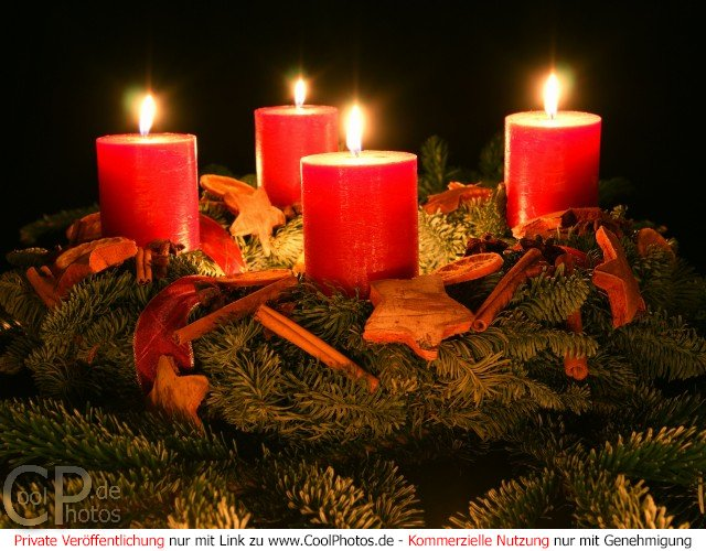 CoolPhotos.de - Fotos - Adventskränze - 4. Advent
