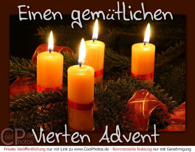 CoolPhotos.de - Grußkarten - Einen gemütlichen 4. Advent