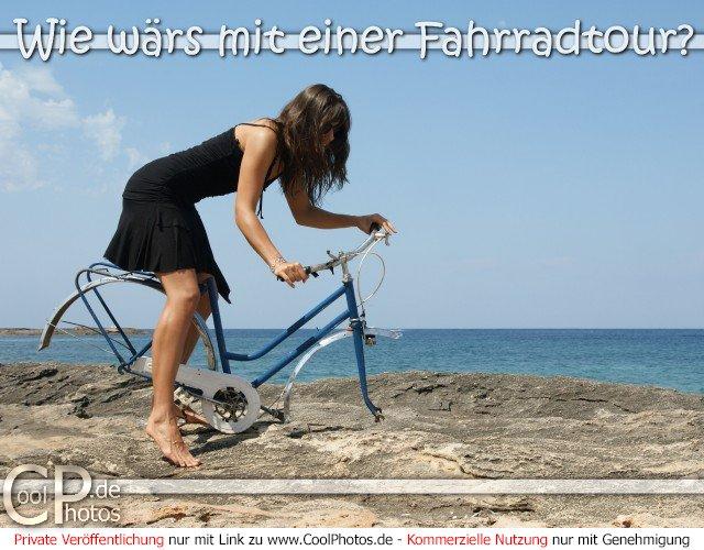 CoolPhotos.de - Grußkarten - Wie wärs mit einer Fahrradtour?