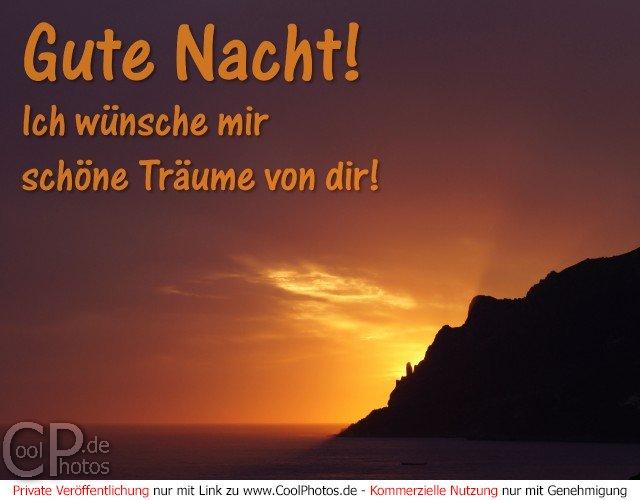 Bild Nr. 29 (Gute Nacht) Gute Nacht! Ich wünsche mir schöne Träume ...