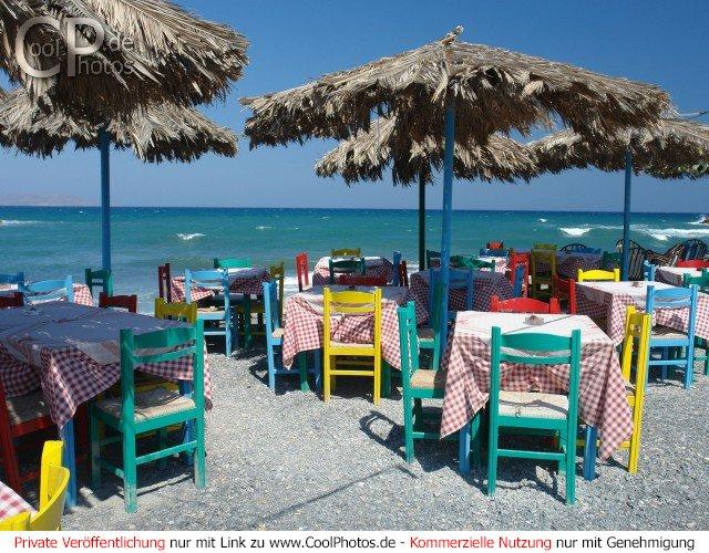 Restaurant mit Meeresblick