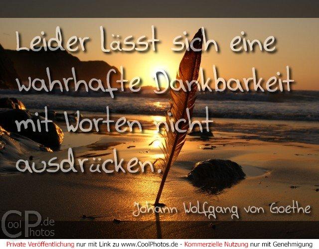 Coolphotosde Grußkarten Danke Danke Zitat Goethe