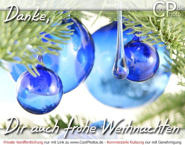 CoolPhotos.de - Danke, Dir auch frohe Weihnachten
