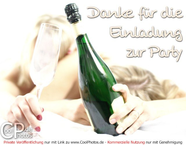 coolphotos.de - danke für die einladung zur party, Einladung