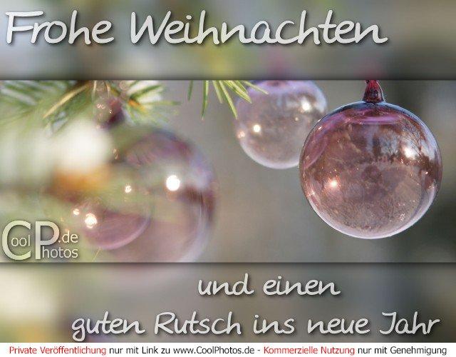 CoolPhotos.de - Frohe Weihnachten und einen guten Rutsch ins neue Jahr