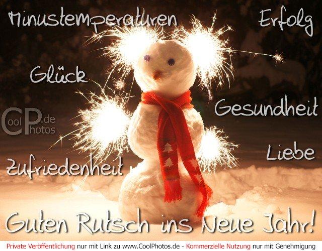 CoolPhotos.de - Guten Rutsch ins Neue Jahr, Erfolg, Glück, ...