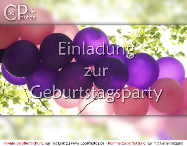 coolphotos.de - einladung zur geburtstagsparty, Einladung