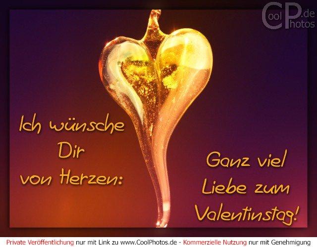 CoolPhotos.de   Ich Wünsche Dir Von Herze: Ganz Viel Liebe Zum Valentinstag!