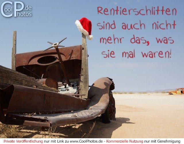 Rentierschlitten sind auch nicht mehr das - Weihnachtskarten verschicken kostenlos ...
