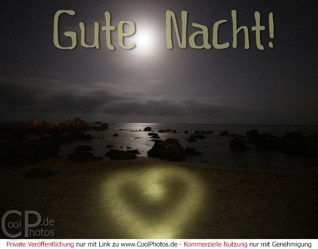 Bekannt CoolPhotos.de - Grußkarten - Gute Nacht (Liebe) - Gute Nacht! UA45