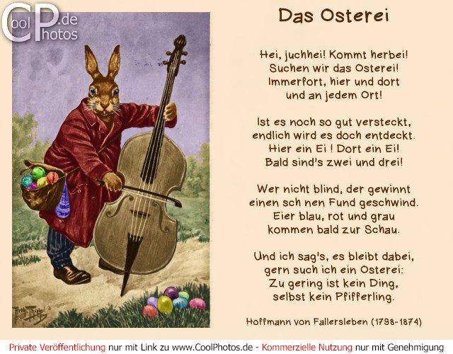 Das osterei gedicht