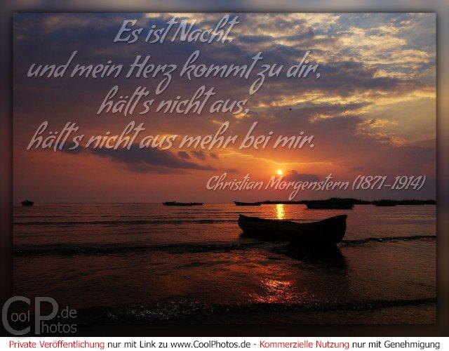 Gedicht christian morgenstern es ist nacht