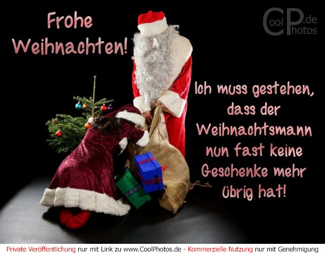frohe weihnachten ich muss gestehen dass der weihnachtsmann nun fast keine
