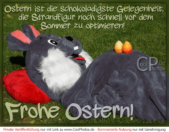 frohe ostern ostern ist die schokoladigste gelegenheit die strandfigur. Black Bedroom Furniture Sets. Home Design Ideas