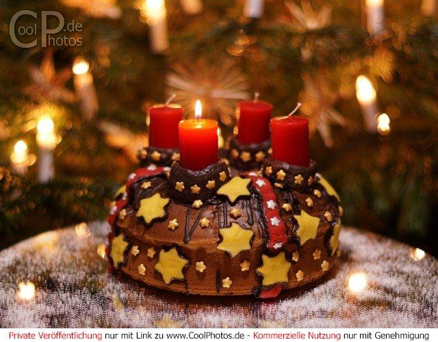Gru karten adventskr nze - Weihnachtskarten verschicken kostenlos ...