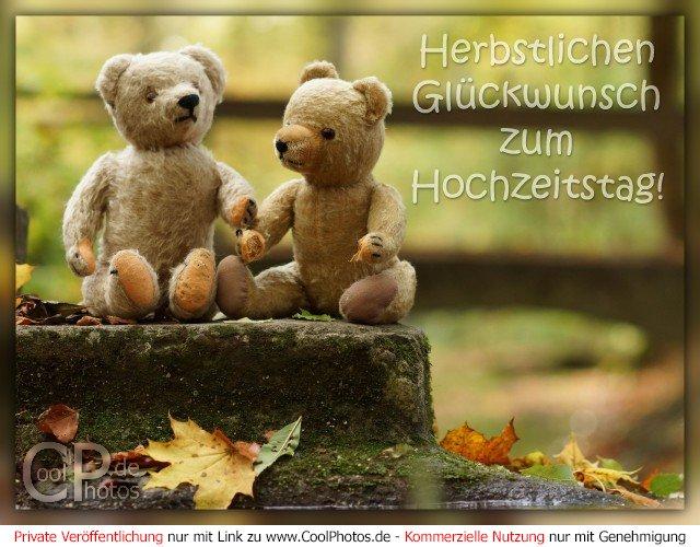 CoolPhotos.de - Herbstlichen Glückwunsch zum Hochzeitstag!