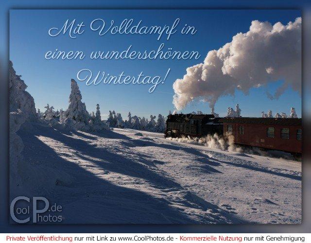 Coolphotosde Mit Volldampf In Einen Wunderschönen Wintertag