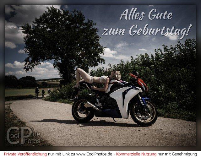 CoolPhotos.de   Grußkarten   Geburtstagskarten für Motorradfahrer