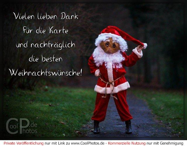vielen lieben dank f r die karte und nachtr glich die besten weihnachtsw nsche