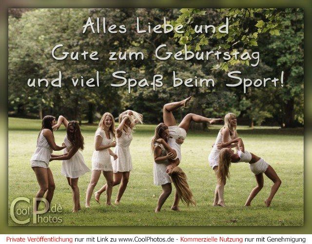 Alles Liebe und Gute zum Geburtstag und viel Spaß beim Sport!
