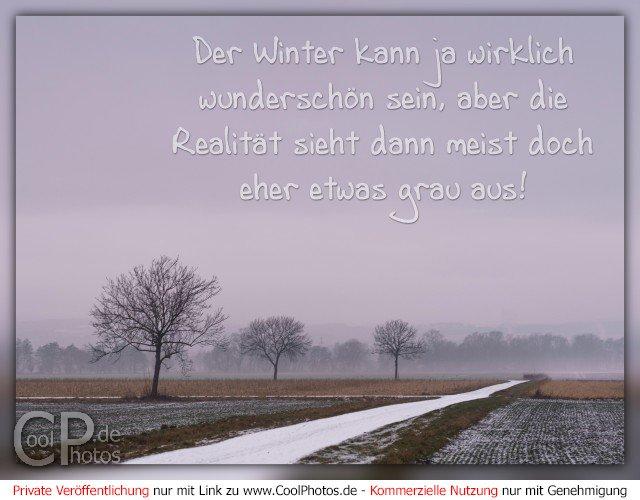 Der Winter kann ja wirklich wunderschön sein, aber die Realität sieht dann meist doch eher etwas grau aus!  Dieses Motiv ist am 08.01.2017 neu in die Kategorie Winterkarten aufgenommen worden.