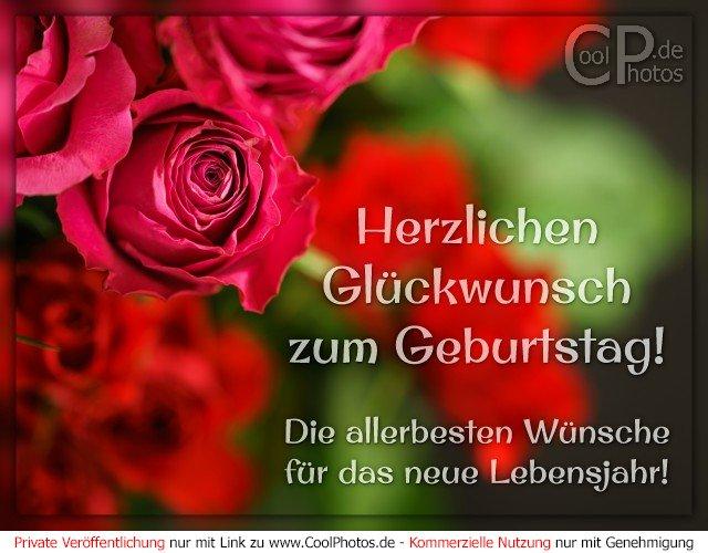 CoolPhotos.de - Herzlichen Glückwunsch zum Geburtstag! Die