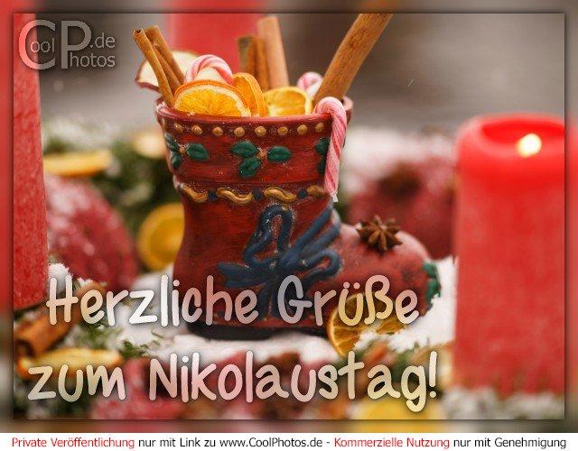 Coolphotosde Grußkarten Nikolaustag Herzliche Grüße