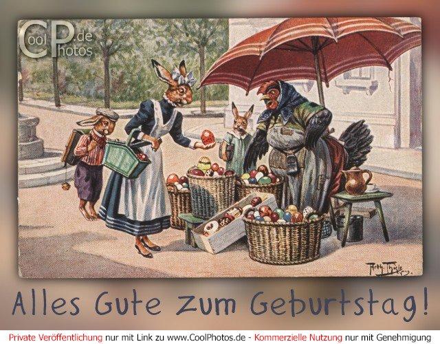 CoolPhotos.de   Antike Geburtstagskarten   Alles Gute zum Geburtstag!
