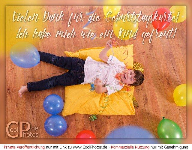 Geburtstagskarte mit vielen fotos