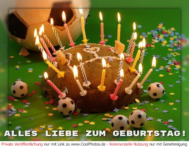 Coolphotos De Geburtstagskarten Fur Fussballer Fussballfans