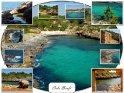 Postkarte mit Motiven aus der einsame Bucht Cala Brafi