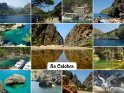 Fotos aufgenommen bei Sa Calobra im Norden Mallorcas bilden die Grundlage für diese Karte