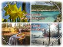 Frühling - Sommer - Herbst - Winter - Und wieder ist ein Jahr um - Alles Gute zum Geburtstag