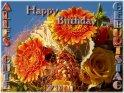 Happy Birthday - Alles Gute zum Geburtstag    Dieses Motiv findet sich seit dem 23. Dezember 2003 in der Kategorie Geburtstagskarten.