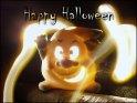 Zaubernder Halloween Geist - Happy Halloween    Dieses Motiv finden Sie seit dem 16. September 2003 in der Kategorie Halloweenkarten.