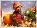 Ein schönes Fest - Weihnachtskarte mit Weihnachtsbär in Winterklamotten    Dieses Kartenmotiv ist seit dem 02. Dezember 2004 in der Kategorie Weihnachtskarten.
