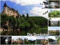 Diese Postkarte zeigt ausgewählte Fotos von der Dordogne.
