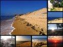 Diese Postkarte besteht aus einer Zusammenstellung von Bilder, aufgenommen bei der Dune du Pyla.