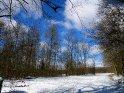 Winterlicher Weg am Waldrand