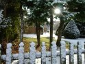 Winterlicher Zaun