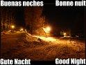 Gute Nacht (Deutsch, Englisch, Spanisch und Französisch)