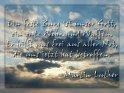 Ein feste Burg ist unser Gott,  ein gute Wehr und Waffen.  Er hilft uns frei aus aller Not,  die uns jetzt hat betroffen.  Martin Luther