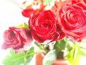 Blumenstrauß mit rote Rosen