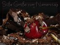 Süße Grüße zum Namenstag    Dieses Motiv finden Sie seit dem 26. Juli 2007 in der Kategorie Namenstag.