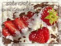 Süße Geburtstagskarte mit dem Text:  Süße Grüße zum Geburtstag