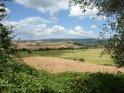 Blick auf die Weite der Toskana.