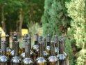 Geöffnete Weinflaschen