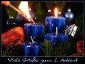 Viele Grüße zum 2. Advent    Dieses Motiv findet sich seit dem 30. November 2007 in der Kategorie Adventskarten.