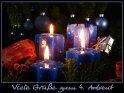 Viele Grüße zum 4. Advent    Dieses Kartenmotiv ist seit dem 30. November 2007 in der Kategorie Adventskarten.